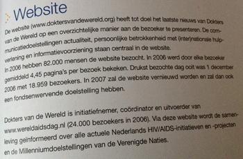 Dutch annual report Dokters van de Wereld 2006