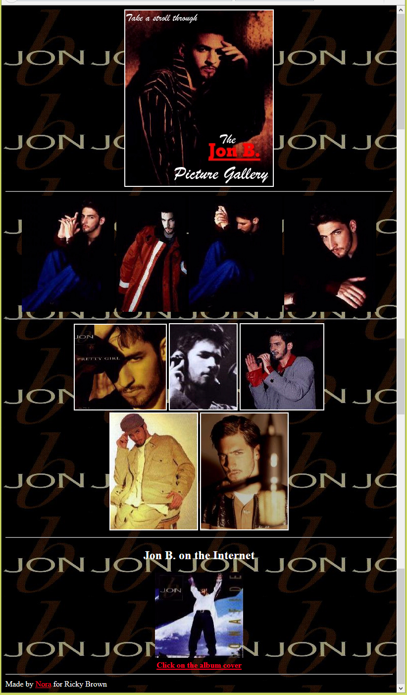Jon B picture gallery
