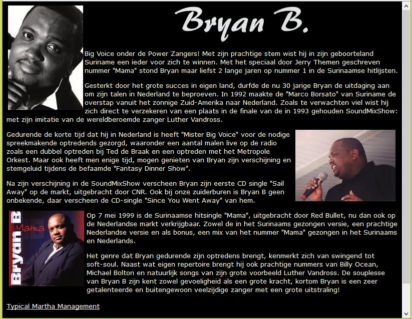 Bryan B website
