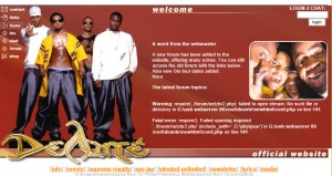 The DeAnté website in 2004