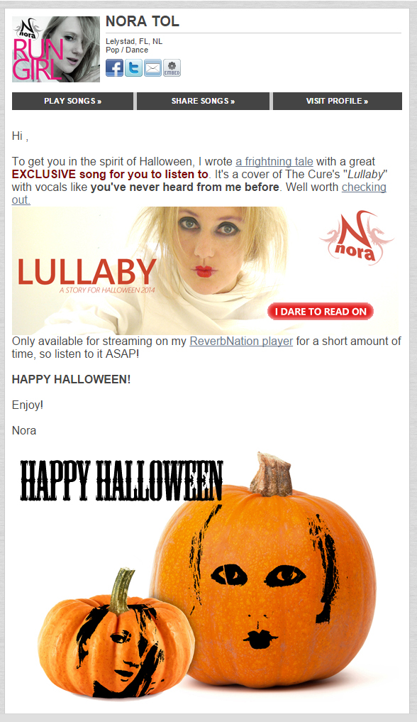 Halloween 2014 mailing