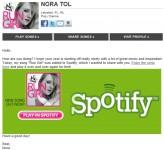Stream me in Spotify