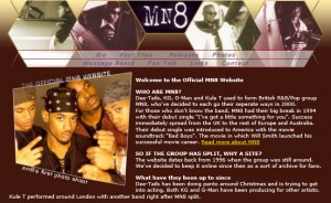 The MN8 website in 2004