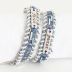 Jeans wrap bracelet - Front