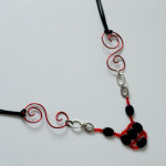 "Necklace ""Swirl to the web"""