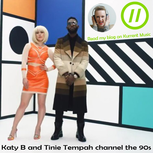 Tinie Tempah and Katy B channel the 90s