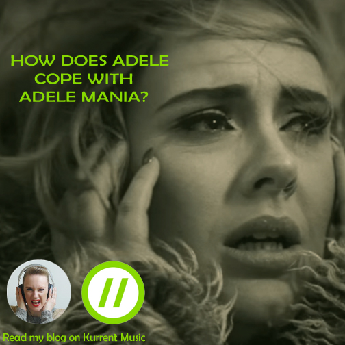 How does Adele cope with Adele-mania?