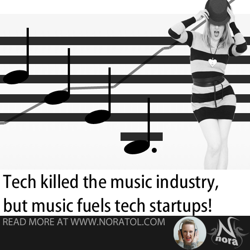 Tech killed the music industry, but oh how music fuels tech startups!