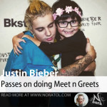 Justin Bieber drained after meeting fans