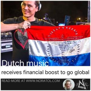 Tiesto holding Dutch flag
