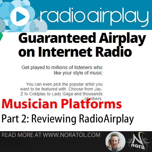[blog] Looking At Musician Platforms, part 2:RadioAirplay.com/Jango