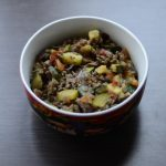 Zucchini with minced meat