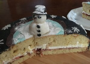 Snowman Cake Layers