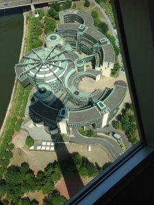 Rheinturm Dusseldorf view